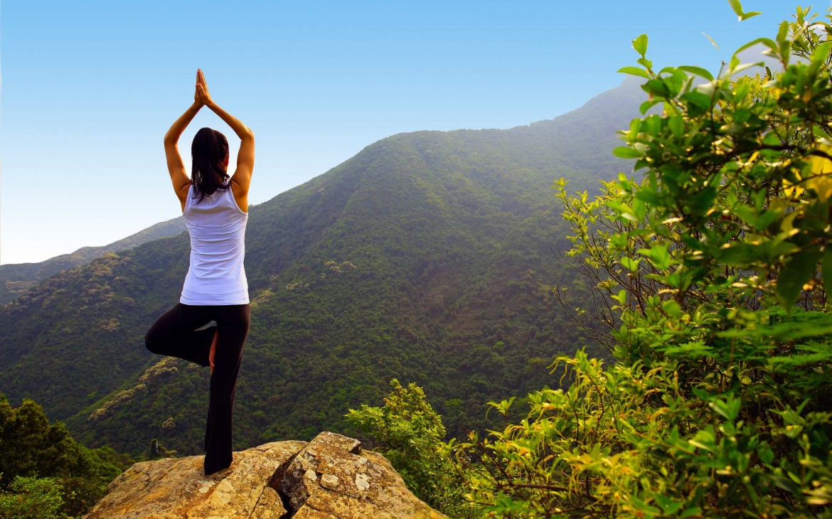 Open air yoga experience
