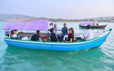 Boating and rowing trip in Alwahda Dam.